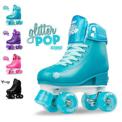 Size Adjustable Glitter POP Kids Girls Ladies Rollerskates Roller | Crazy Skates