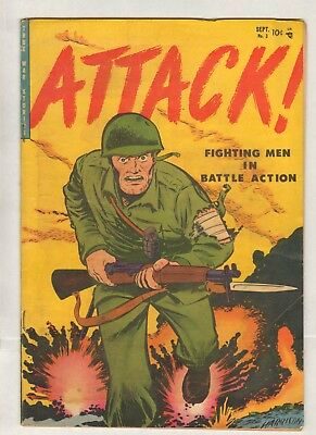 Attack #3 (VG/FN) (1952, Youthful) Bondage! Whipping!