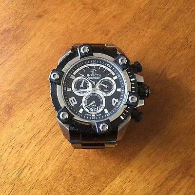 Invicta Reserve Grand Arsenal 63mm Black Silver Stainless Swiss Made Watch