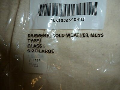 Military Cold Weather Drawers Underwear Wool/Cotton Wallace Beery New Large