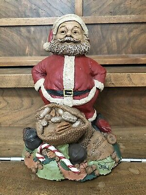 "Retired 1998 Signed Tom Clark Figurine - Santa Claus ""Merry Christmas"""