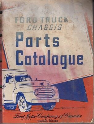 1948 Ford Truck Chassis Parts Catalogue Ford of Canada
