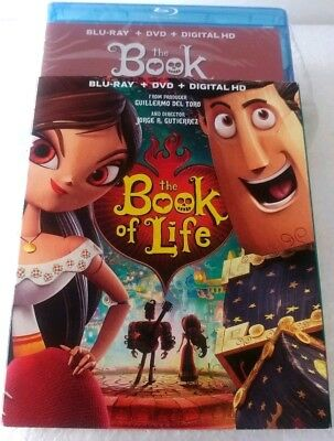 The Book of Life (2015, 2-Disc Set) Blu-Ray + DVD + Digital HD W/ Slipcover