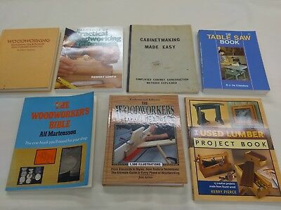 7 used woodworking books Lot 6