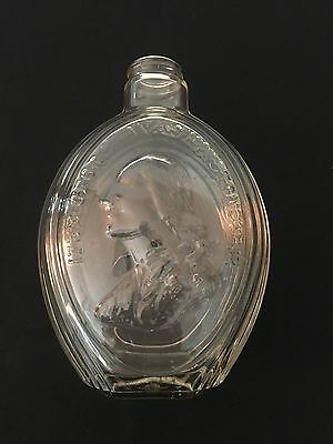 "Vintage George Washington Glass Decanter Flask Bottle 1932 8"" Tall"