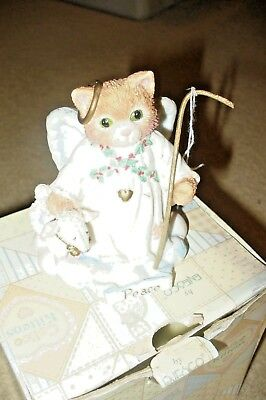 Calico Kittens Peace on Earth 625256 Cat Sheppard Christmas Figurine Numbered
