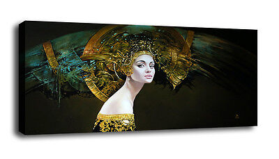 Oil Painting HD Print On Canvas Modern Deco Exotic queen Unframed