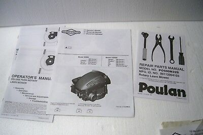 Poulan rotary lawn mower manuals PO500N22S