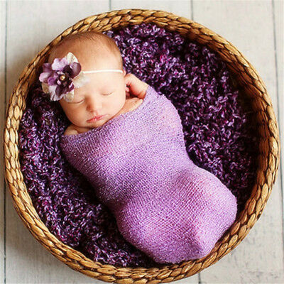 Newborn Baby Stretch Textured Knit Rayon Wrap Cocoon Photo Photography Prop TZK