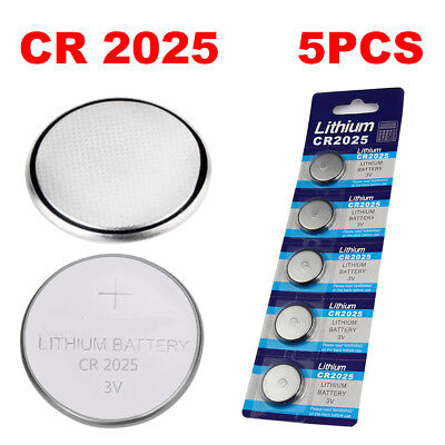 5Pcs CR2025 CR 2025 3V Button Battery Coin Cell Battery
