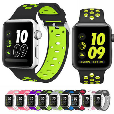 Silicone Sport Loop Bracelet Watch Band Strap For Apple iWatch 1/2/3/4 Series