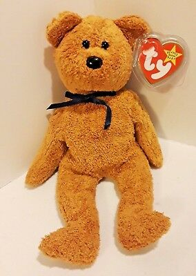 NEW Ty Beanie Baby FUZZ The Bear 1996 NMWT