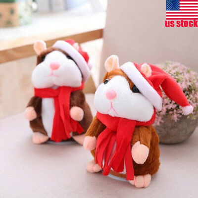 Speak Sound Record Talking Walking Hamster Mouse Plush Toy Child Kids Xmas GIFT