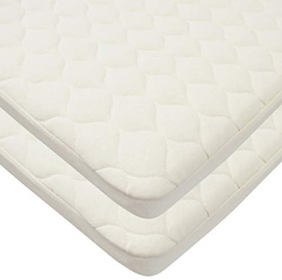 TL Care Twin Pack Waterproof Quilted Bassinet Size Fitted Mattress Cover Made -