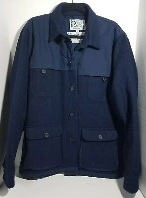 Men's Size XXL Penfield Trailwear Hudson Wax Cloth 65 / 35 Navy Blue Jacket 2XL