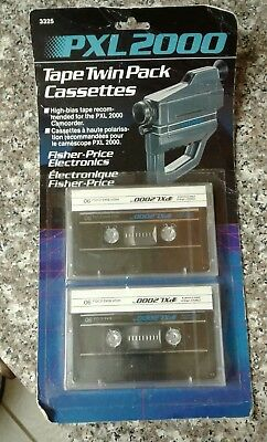 Vintage PXL 2000 Twin Pack Cassettes New and Sealed Rare  HTF Fischer Price