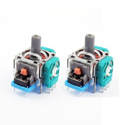 2Pcs Analog Stick Joystick Replacement Parts for PS4 Xbox One Controller Wide