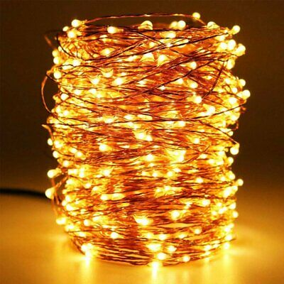 20M 200 LED String Lights Fairy Timer Battery Waterproof Outdoor Christmas Tree