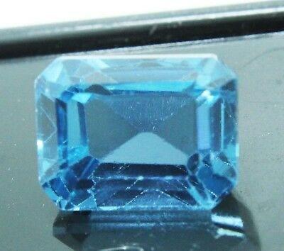 11.00 CT Emerald Shape Natural Aquamarine Ocean Blue Transparent GGL certified