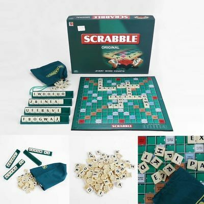 Original Scrabble Board Game Family Kids Adult Educational Toy Puzzle Games Xmas