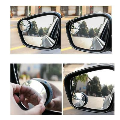2 Car Adjustable Rearview Blind Spot Side Rear View Mirror Convex Wide Angle AU,