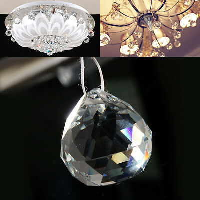 Chandelier Ball Drop Crystal Glass Lamp Pendant Loose Spacer Bead Clear Ry