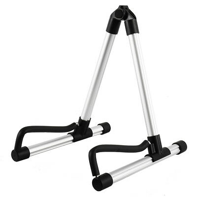 Foldable A-Frame Music Guitar Stand Floor Universal Acoustic Electric Bass US
