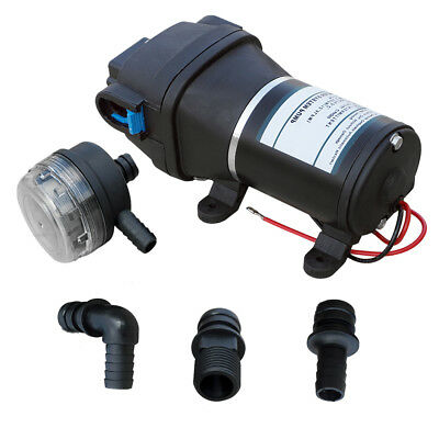 24V DC High Pressure Diaphragm Water Pump  35Psi 12.5 L/Min  For Caravan/Boat