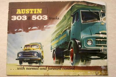Vintage 1956 AUSTIN TRUCKS ADVERTISEMENT BROCHURE- 303 & 503 Austin Trucks