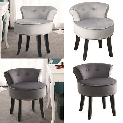 Wondrous Velour Fabric Dressing Table Chair Stool Makeup Vanity Seat Bralicious Painted Fabric Chair Ideas Braliciousco