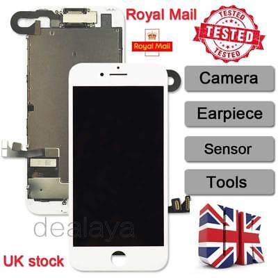"""For Full iPhone 7 4.7"""" Touch Screen Display Replacement Digitizer + Camera White"""