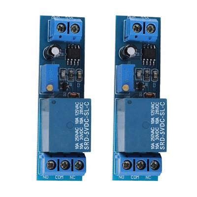 2 Pcs DC 5V Timer Adjustable Delay Turn Off on Switch Ne555 Time Relay Module