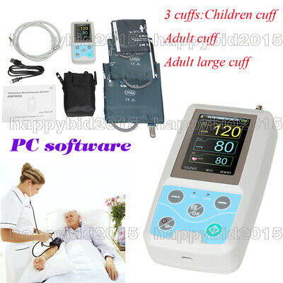 CONTEC ABPM50 Arm 24h NIBP Ambulatory Blood Pressure Monitor+PC Software 3 Cuffs