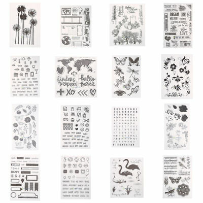 Transparent Silicone Clear Rubber Stamps Scrapbooking Card Decor Diary DIY Xmas