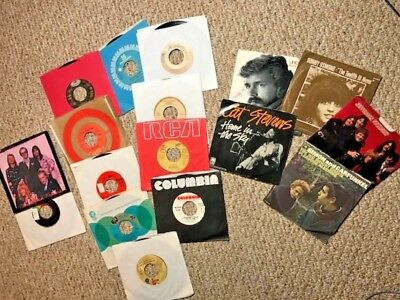 CLASSIC ROCK mostly 1970's outstanding lot of 45's with some Picture Sleeves