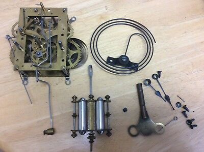 Hamburg American Clock Co Mechanism, Pendulum, , Hands Etc