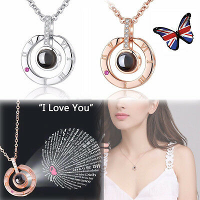 I LOVE YOU in 100 languages Pendant Necklace For Memory of LOVE Wife Mother Gift