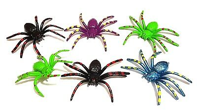 12 pc Painted Spider Horror Joke Halloween Parties Bugs Insect Pinata Bag Filler