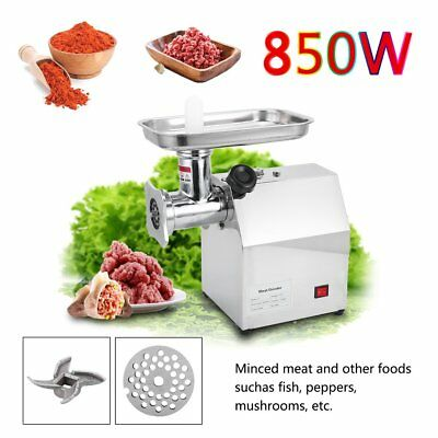 Commercial Grade 1HP Electric Meat Grinder 850W Stainless Steel Heavy Duty