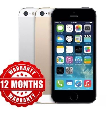 5S✔️Apple iPhone 5S - 16GB / 32GB - UNLOCKED All Colours Smartphone WARRANTY✔️