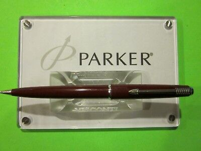 PARKER 45  MECHANICAL PENCIL BURGUNDY made in ENGLAND