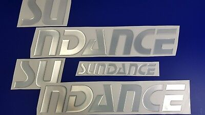 "Sundance Boats Emblem 22"" chrome + FREE FAST delivery DHL express- Sticker decal"