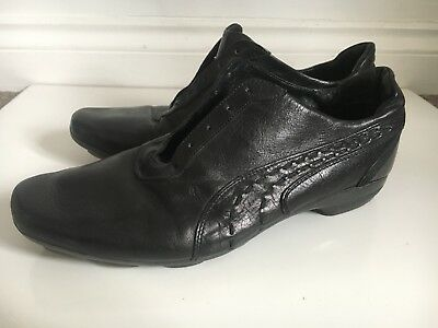853eb89ed91 PUMA ESTRALTO RE-LUXE Shoes UK 9 BLACK label 96 HOURS Italy Made 100 ...