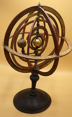 """A VERY RARE LATE 18TH CENTURY ANONYMOUS FRENCH ARMILLARY SPHERE 21"""" TALL (53cm)"""