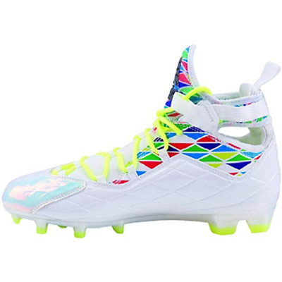 Adidas CrazyQuick Men's 11 Lacrosse Mid Cleats LAX White Electricity NEW S85749