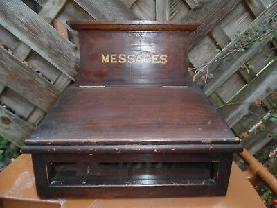 Antique Wooden Country House, Hotel, Church Message Post Box