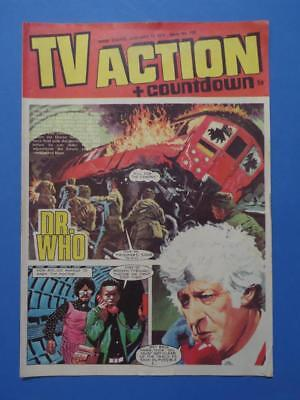 Tv Action + Countdown 100 1972 Dr Who Stingray Captain Scarlet! Very Nice!