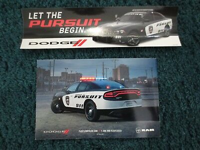 2018 19 Dodge Police Hemi Charger Sticker And Ram And Fleet Spec Guide Brochure