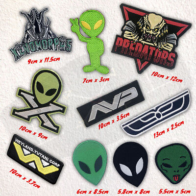 Alien Face AVP movie Collection badges Iron Sew on Embroidered patch