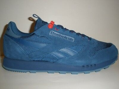 82ee742f8708 REEBOK CLASSIC BLUE Suede Running Shoes Men s Size 10 RARE MINT ...